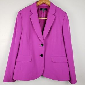 Kasper pink button-down blazer size 16